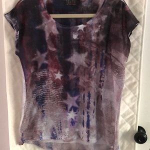 Fourth of July T-shirt with mesh back